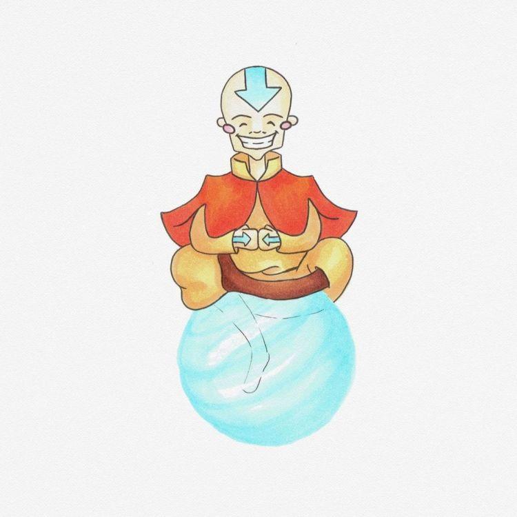 Aang, copic marker illustration