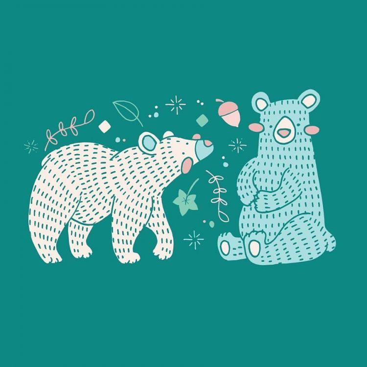 Bears, digital illustration