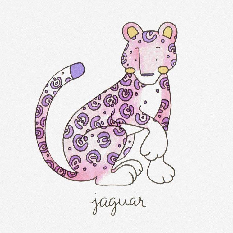 Jaguar, copic marker illustration