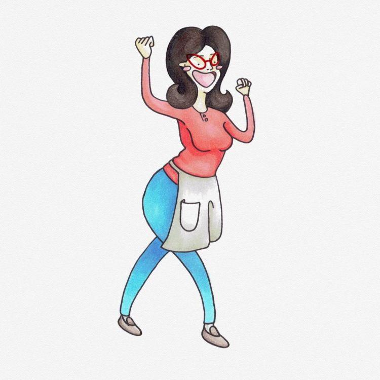 Linda Belcher, copic marker illustration