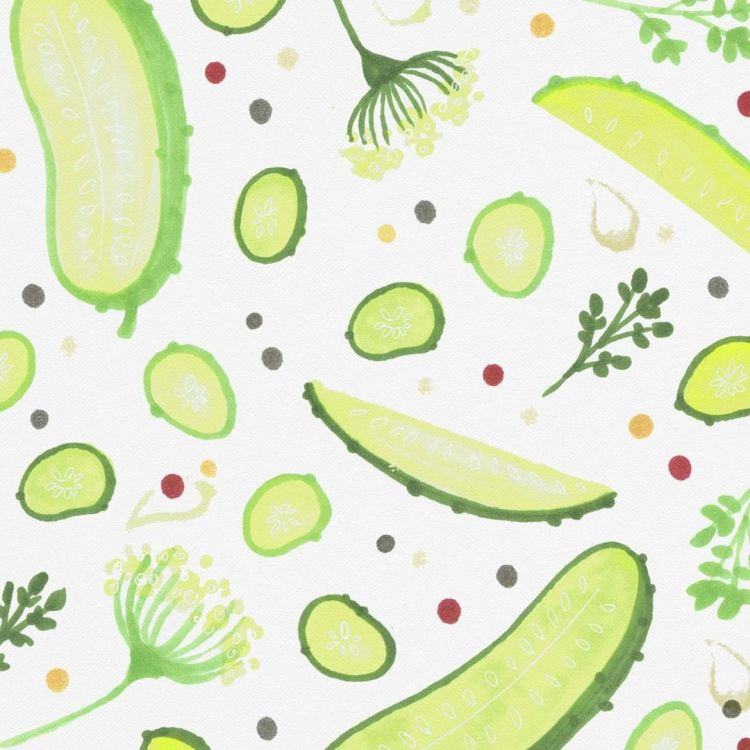 Pickle Surprise, copic marker illustration