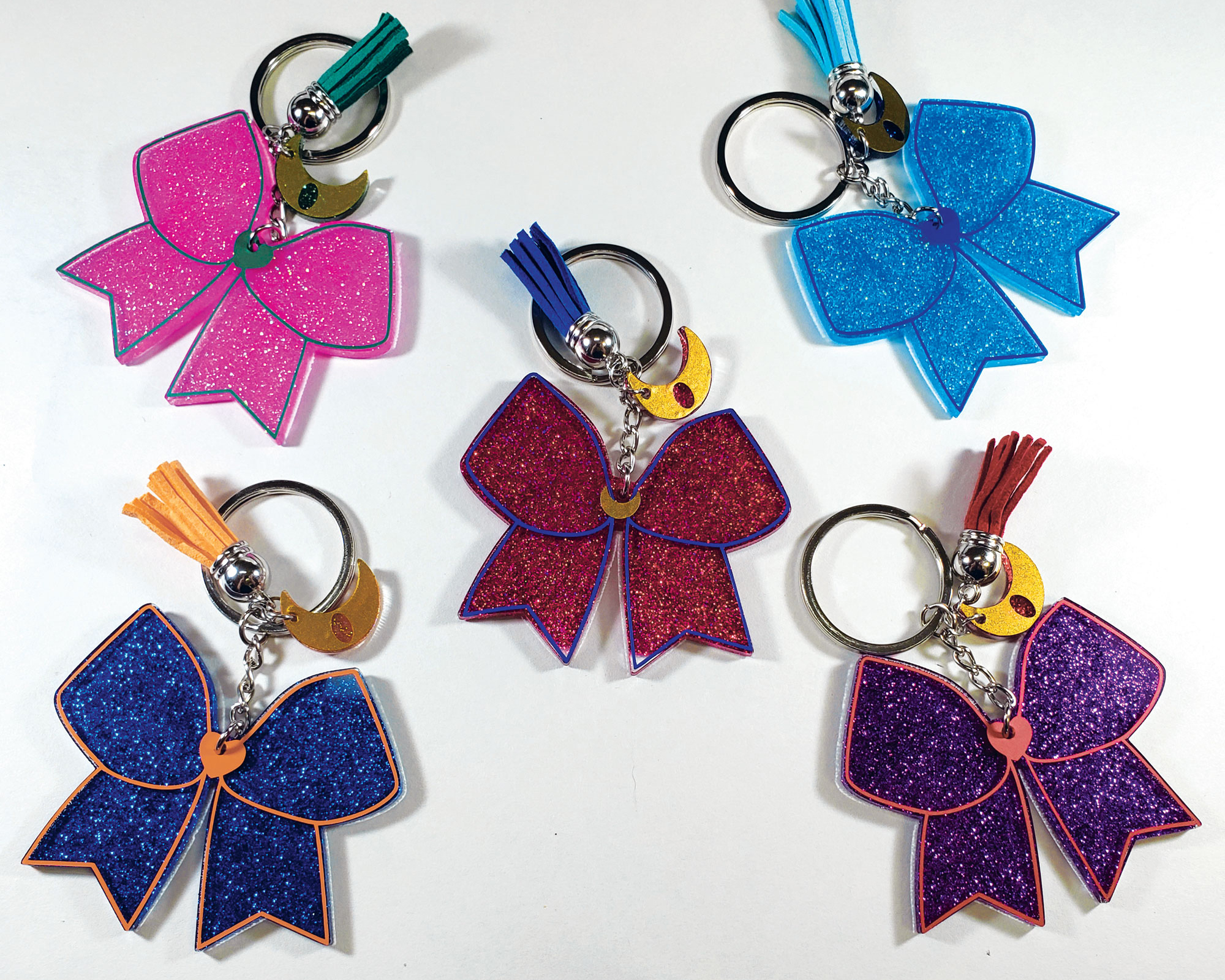 Sailor Senshi Inner Scout Key Charms