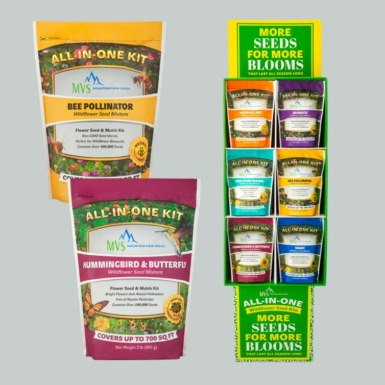 Mountain View Seeds Wildflower Seed Packages