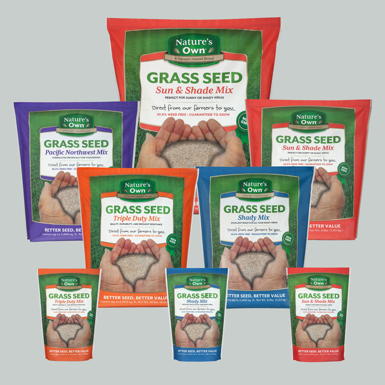 Nature's Own Grass Seed, packages